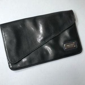 NWT Nine West Dark Grey Patent Leather Clutch